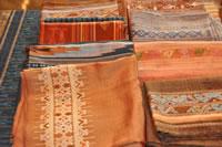 ラオスのこども織物
