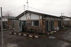 伊達市の仮設住宅