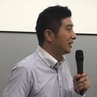 二本松有機農業研究会の近藤恵さん。現在 飯舘電力株式会社福島事務所長も務める。