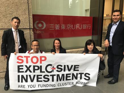 「投融資ヤメテ」と日本語のキャンペーン動画も撮影しました