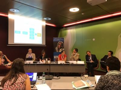 分科会「Leveraging New Partnerships in Resettlement」では、各国の政府、企業、NGOの代表が、自国の経験や課題について報告しあった。
